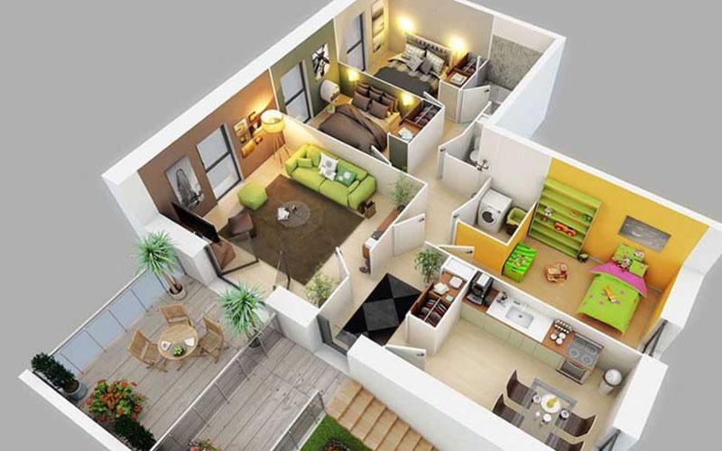 3D дизайн проект квартиры