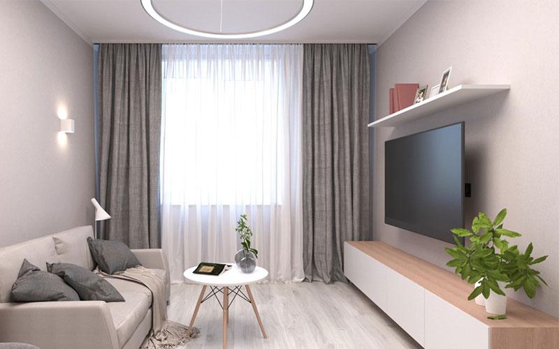 Дизайн проект интерьера гостиной
