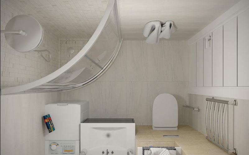 Дизайн маленькой ванной комнаты, совмещенной с туалетом