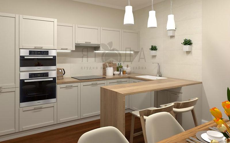 Дизайн кухни, совмещенной с гостиной