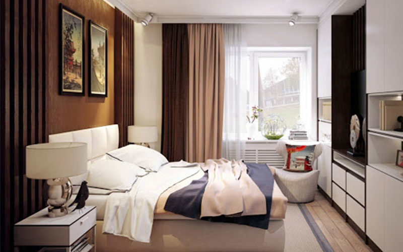 Дизайн спальни 12 метров в современном стиле