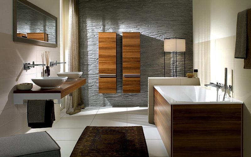 Дизайн ванной комнаты прямоугольной формы
