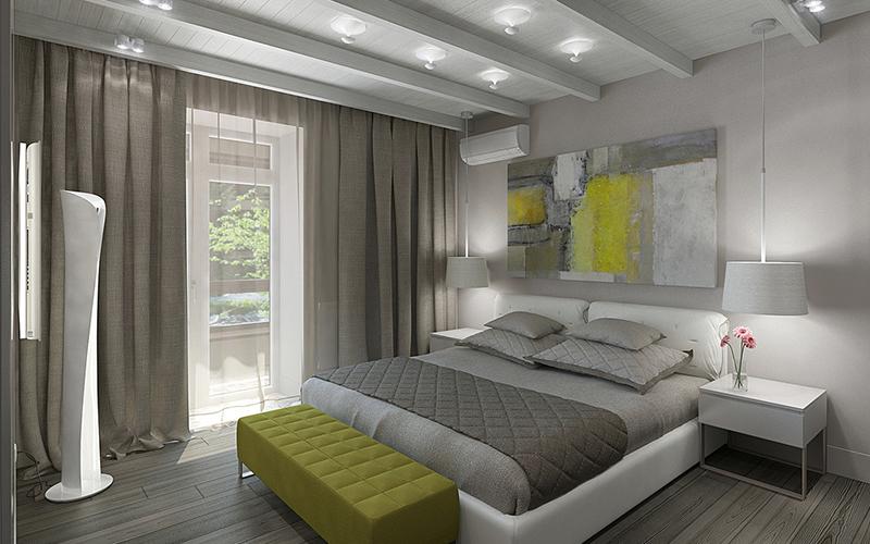 дизайн спальни в частном доме в современном стиле
