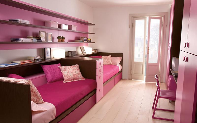 Дизайн детской комнаты для двух девчат