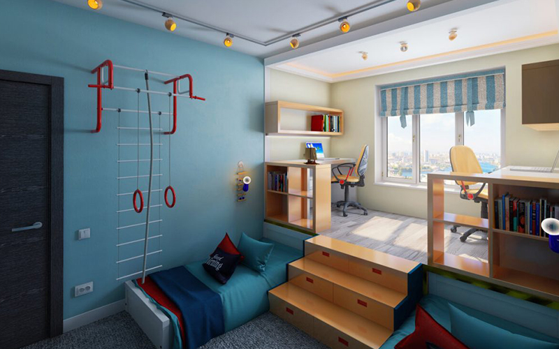 Дизайн детской комнаты для двоих мальчиков