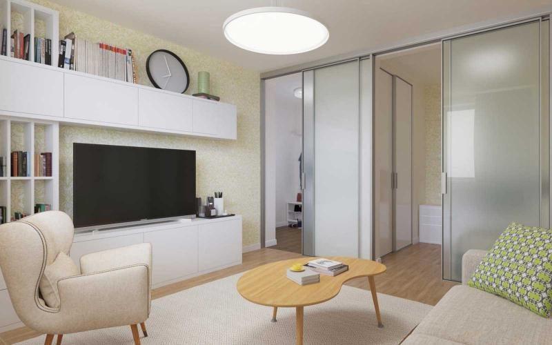 Дизайн двухкомнатной хрущевки с проходной комнатой